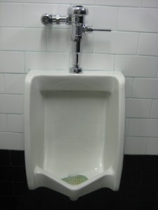 Blue Note men's urinal, courtesy of men's room correspondent KMac